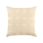 Elaine Smith Basketweave Ivory toss pillow