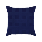 Elaine Smith Basketweave Navy toss pillow