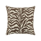 Elaine Smith Chocolate Zebra toss pillow