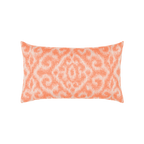Elaine Smith Bali Coral Lumbar pillow
