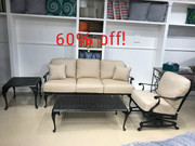 Provance Sofa, Spring Lounge Chair, Double Lattice Coffee Table and End Table