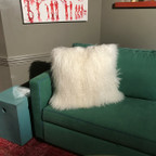 Large Lamb Fur Pillow/Cream