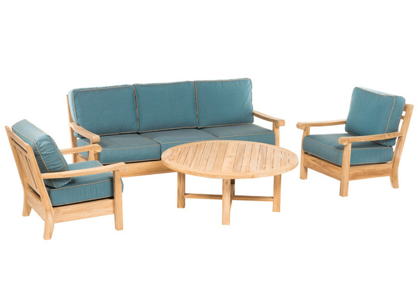 CO9 Design Jackson Sofa Seating Set with Cast Lagoon Cushions