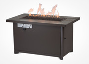 """Garden Cottage 26""""x45"""" Rectangle Chat Height Gas Fire Pit"""