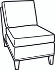 Essentials Shelter Armless Chair (700-08)