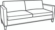 Essentials Shelter Arm Apartment Sofa (700-11)