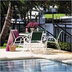 Aruba Sling 4 Seat Cafe Set