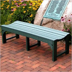 "Traditional 60"" Backless Garden Bench"