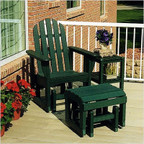 Adirondack Glider Chair & Ottoman Set