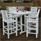 Captain 4-Stool Outdoor Bar Set