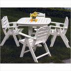 Nautical Low Back Chair Dining Set