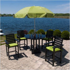 4-Seat Captain Outdoor Counter Dining Set