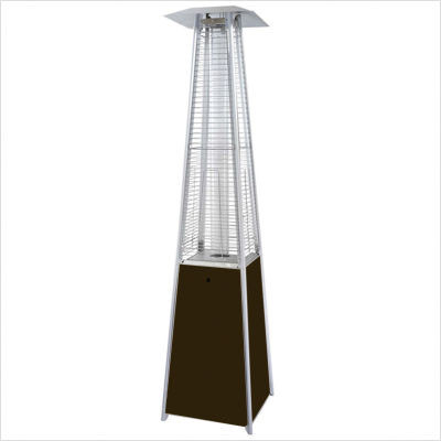 Tall Quartz Glass Tube Heater In Hammered Bronze Finish