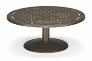 "36"" Round Conversation Height Pedestal Cast Table"