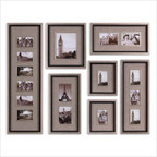 Massena Photo Collage Wall Art in Antiqued Silver Leaf (Set of 7)