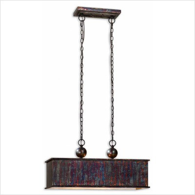 Ck Generic Albiano Two Light Rectangle Pendant In Oxidized