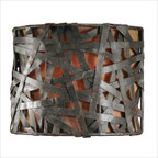 Naturals Alita Wall Sconce in Aged Black Metal