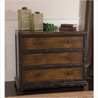Rishi Three Drawer Chest in Distressed Honey