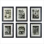 Paris Scene I, II, III, IV, V, VI Fine Art Print Set