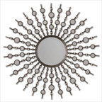 Kimani Mirror in Antiqued Silver
