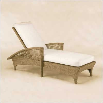 Trinidad Wicker Adjustable Chaise Lounge w/ Cushion