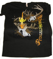 Black Tshirt with Custom Coues Deer Artwork
