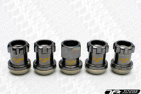 KICS Project R26 Racing Composite Lug Nuts Regular GunMetal -  Locking