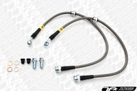 StopTech 08-10 Mitsubishi Evo 10 Stainless Steel Rear Brake Lines