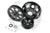 TF Lightweight Aluminum Pulley Kit S13 SR20DET - BLACK