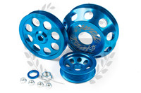 TF Lightweight Aluminum Pulley Kit S13 SR20DET - BLUE