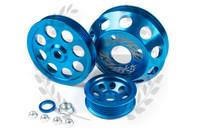 TF Lightweight Aluminum Pulley Kit S13 SR20DET - BLUE