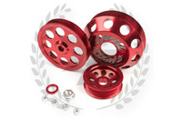 TF Lightweight Aluminum Pulley Kit S13 SR20DET - RED