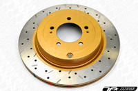 DBA 4000 XS Cross Drilled Slotted Brake Rotors - Scion FR-S & Subaru BRZ
