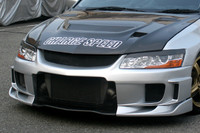 Charge Speed Type-2 Front Bumper: Carbon - Mitsubishi EVO 8/9