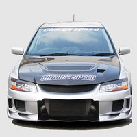 Charge Speed Vented Hood: Carbon - Mitsubishi EVO 8