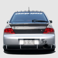 Charge Speed Type-2 Rear Bumper w/ Carbon Diffuser - Mitsubishi EVO 8/9