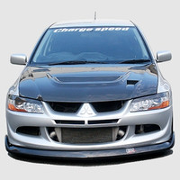 Charge Speed Bottom Line Front Lip: Carbon - Mitsubishi EVO 8