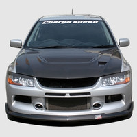 Charge Speed Bottom Line Front Lip: FRP - Mitsubishi EVO 9