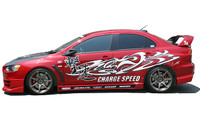 Charge Speed Type-1 Side Skirts: FRP - Mitsubishi EVO 10