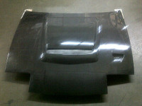 Charge Speed Flip-Eye Vented FRP Hood - Nissan 240SX S13