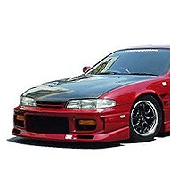 Charge Speed Zenki FRP Front Bumper w/ Grill - Nissan 240SX S14
