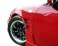 Charge Speed FRP, 20mm Wide Body Front Fenders (Pair) - Nissan 240SX S14-S15 Conversion