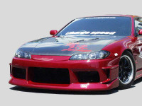 Charge Speed Type-1 Vented, Carbon Fiber Hood - Nissan Silvia / 240SX S15