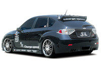 Charge Speed Type-1 FRP Rear Bumper - Subaru WRX STi GR