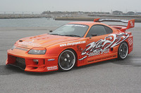 Charge Speed FRP Hood w/ Vents - Toyota Supra JZA80