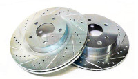 P2M Drilled + Slotted Rear Rotors - Nissan 240SX S13 / S14