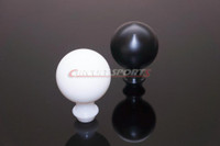 Circuit Sports Lightweight Delrin Shift Knob - M10x1.25 - Black / White