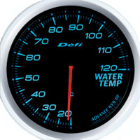 Defi Advance BF 60mm Water Temp Gauge Blue