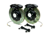 Brembo Black Rear Drilled Big Brake Kit - 99-02 Nissan Skyline GT-R R34