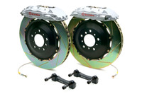 Brembo GT Silver Slotted Front Big Brake Kit 380x32mm - 08-15 Mitsubishi Evolution X